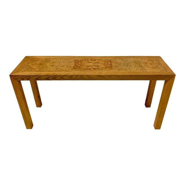 1970s Lane Burlwood Console Table For Sale