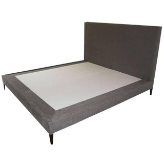 Customizable Yuri Platform Bed on Walnut Legs For Sale