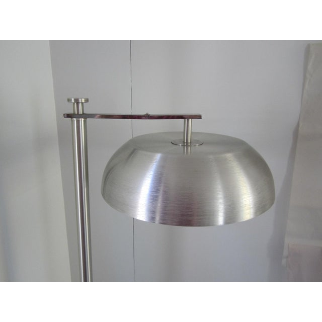 Kurt Versen Kurt Versen Spun Aluminium Flip Top Floor Lamp For Sale - Image 4 of 11