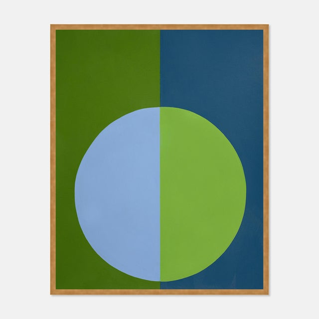 Contemporary Green & Blue Forever Large Gold Framed Print by Stephanie Henderson For Sale - Image 3 of 3
