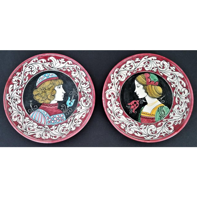 1950s Vintage Italian Majolica Ceramic Wall Plaques by Giacomini Orvieto For Sale - Image 13 of 13
