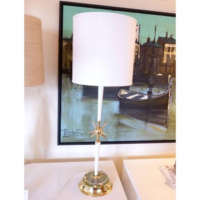 Vintage Atomic Style Sputnik Table Lamp For Sale - Image 5 of 5