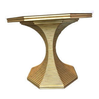 Bunny Williams Gold Hourglass Table For Sale