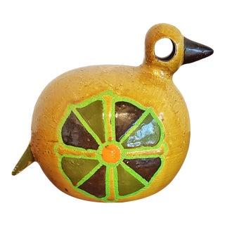 Yellow Aldo Londi Bird for Bitossi Ceramiche For Sale