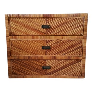 Mid-Century Bamboo Bachelor Chest For Sale