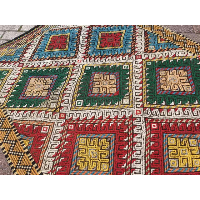 Vintage Turkish Embroidered Runner For Sale In Raleigh - Image 6 of 11