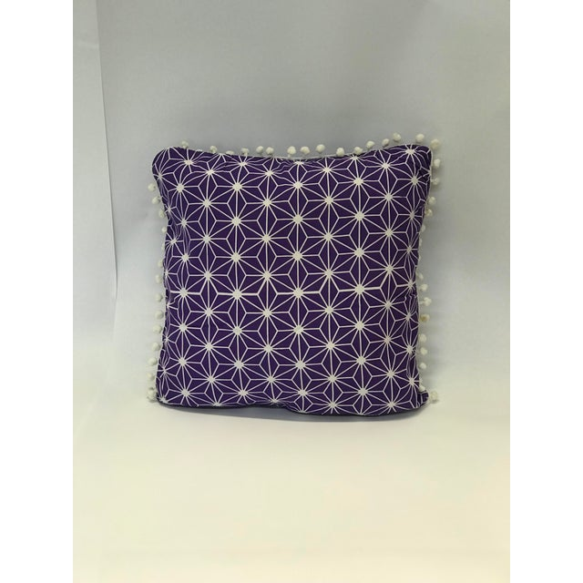 Moroccan Moroccan Purple Cotton Pillows - a Pair For Sale - Image 3 of 4