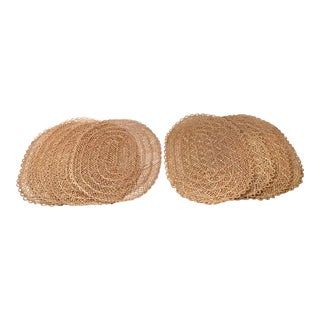 Vintage Straw Placemats - Set of 8 For Sale