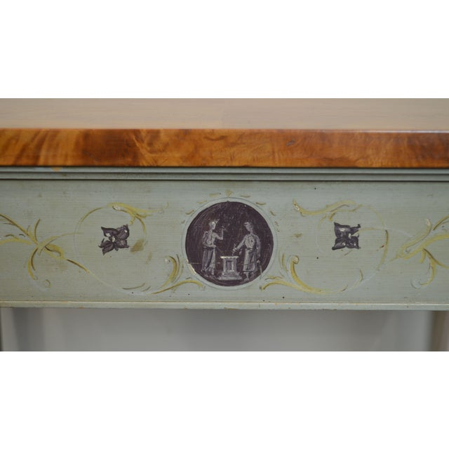 Schmieg & Kotzian Adams Hand Painted One Drawer Side Table For Sale - Image 11 of 12