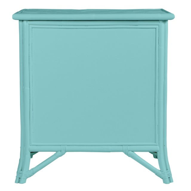 Not Yet Made - Made To Order Aruba One-Drawer Nightstand - Turquoise For Sale - Image 5 of 7