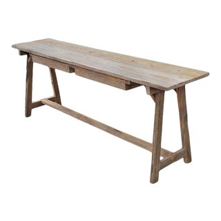 Petersen Antiques Reclaimed Wood Console Table For Sale