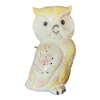 Vintage Ceramic Owl Table Lamp For Sale