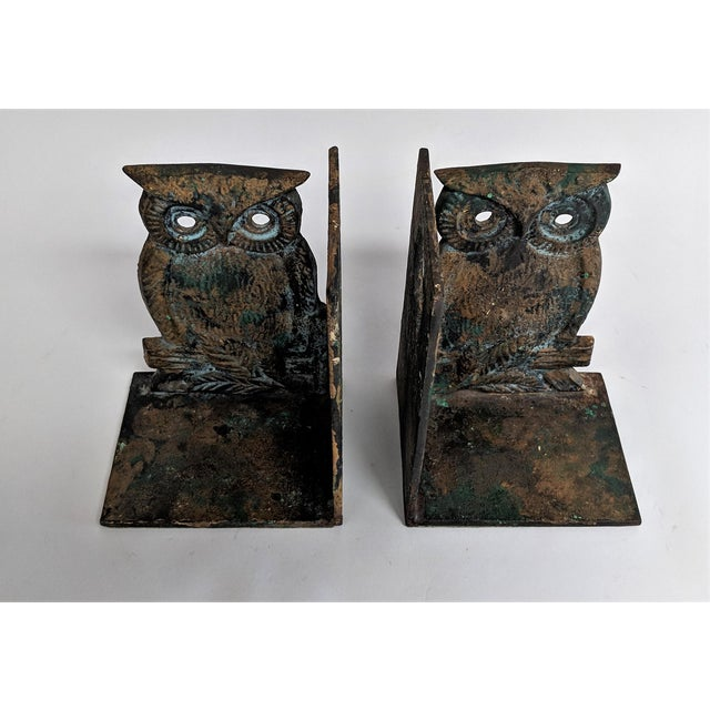 Vintage Metal Owl Bookends - A Pair - Image 2 of 9