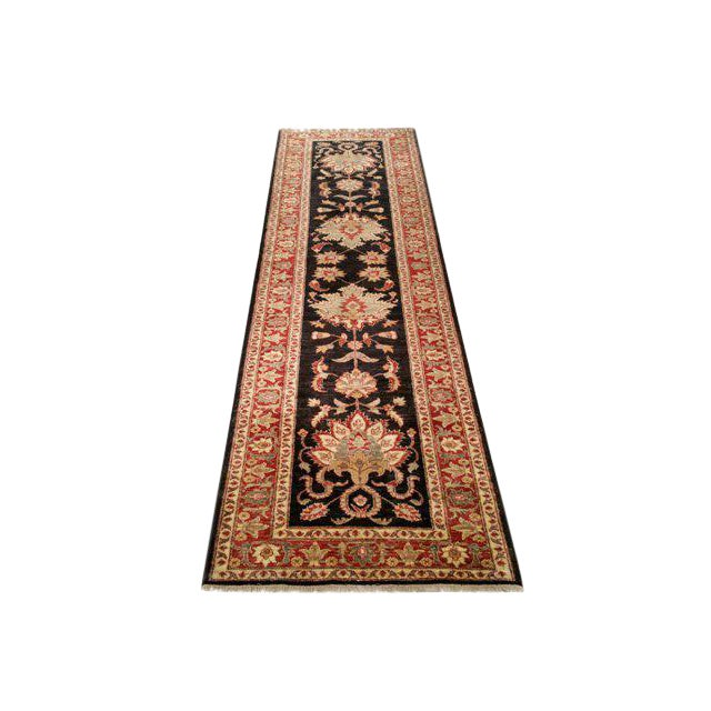 Traditional 10 Ft. Handmade Knotted Runner Rug - 2′11″ × 10 - Image 1 of 3