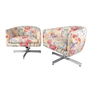 Milo Baughman Swivel Lounge Chairs for Thayer Coggin - A Pair For Sale