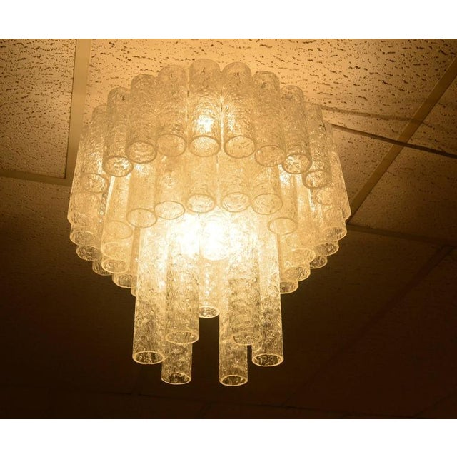 Mid-Century Modern Doria Chandelier in Three Layers For Sale - Image 3 of 9