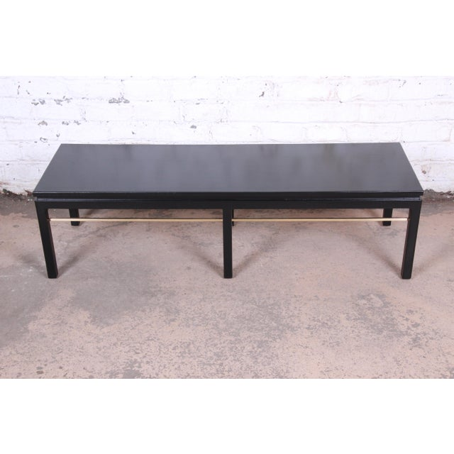 An exceptional mid-century modern coffee or cocktail table Designed by Edward Wormley for Dunbar Furniture USA, 1950s...