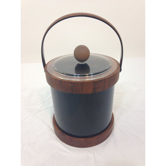 Authentic Ernest Sohn Teak Ice Bucket - Image 2 of 6