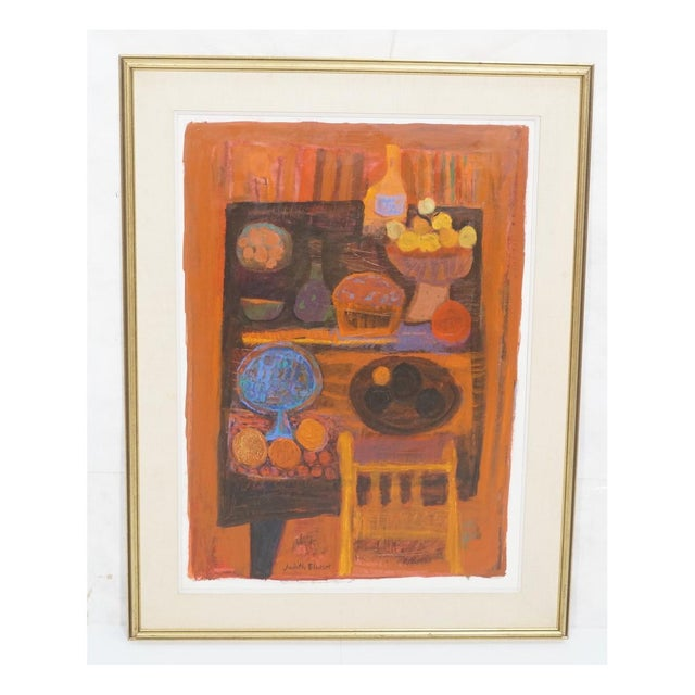 Mid 20th Century Vintage Mid-Century Judith Bledsoe Still Life Painting For Sale - Image 5 of 5