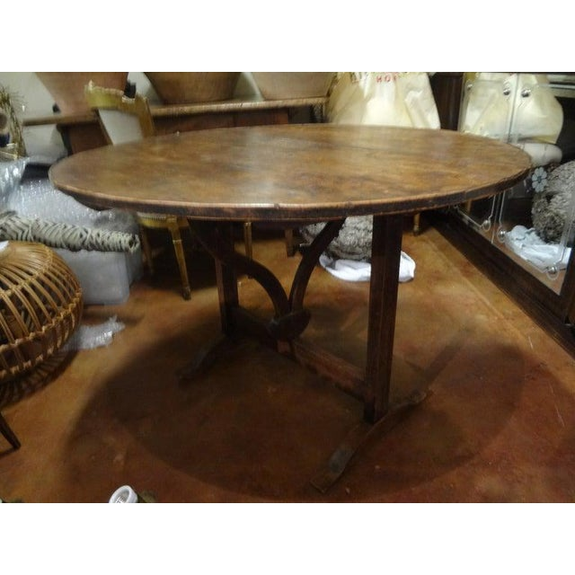 19th Century French Walnut Wine Tasting Table From Burgundy For Sale - Image 11 of 13