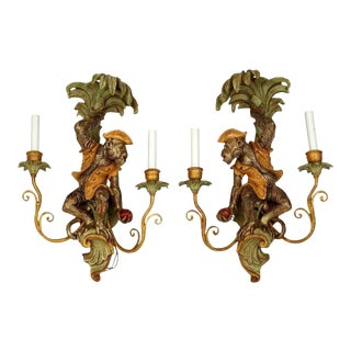 Single Monkey Figure Wall Light Sconce