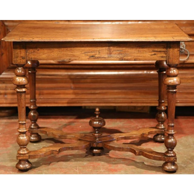 Late 18th Century French Walnut Side Table For Sale - Image 9 of 10