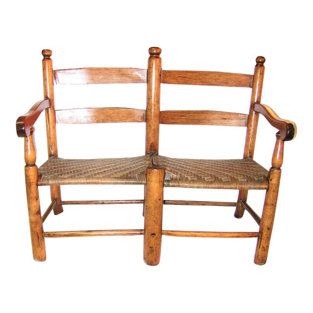 19c American Walnut Wagon Seat For Sale