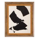 Image of Abstract Black and White Painting by Stephen Hansrote For Sale