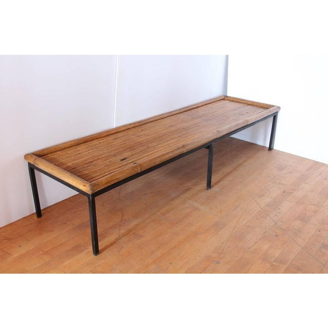 Mid Century Bamboo & Iron Coffee Table. This piece would