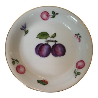 Vintage Mid-Century Lj Porcelain Japanese Fruit Tray For Sale