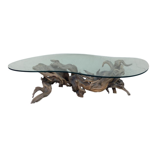 Driftwood Base Coffee Table - Image 1 of 10