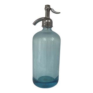 Vintage Aqua Seltzer Bottle For Sale