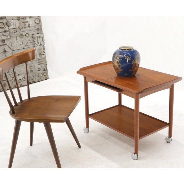 Danish Mid-Century Modern Teak Expandable Cart With One Leaf For Sale - Image 6 of 13