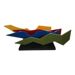 Lia DI Leo Sculptor to the Stars Vibrant Aluminium and Marble Sculpture For Sale