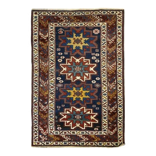 Antique Caucasian Shirvan Rug 3,9 x 5,8