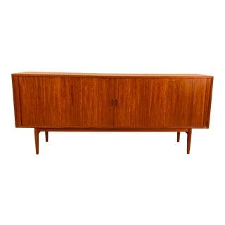 Danish Teak Credenza With Tambour Doors by Arne Vodder for Sibast Furniture For Sale