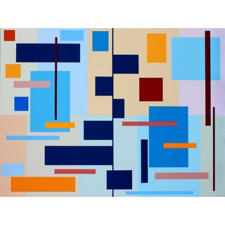 Sassoon Kosian Barchart Composition Painting For Sale