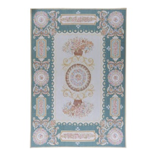 "Pasargad Aubusson Hand Woven Wool Rug - 11' 6"" x 18' 0"" For Sale"
