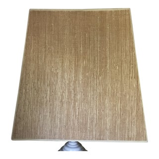 Mid-century Grasscloth Rectangular Paper Lampshade For Sale
