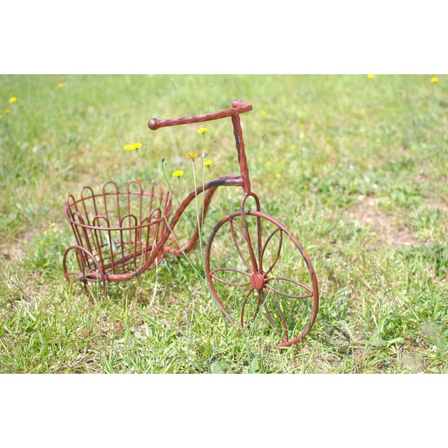 Metal Antique Garden Tricycle Plant Stand - Image 2 of 3