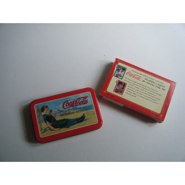 Vintage Coca-Cola Playing Cards in Tin - Image 2 of 5