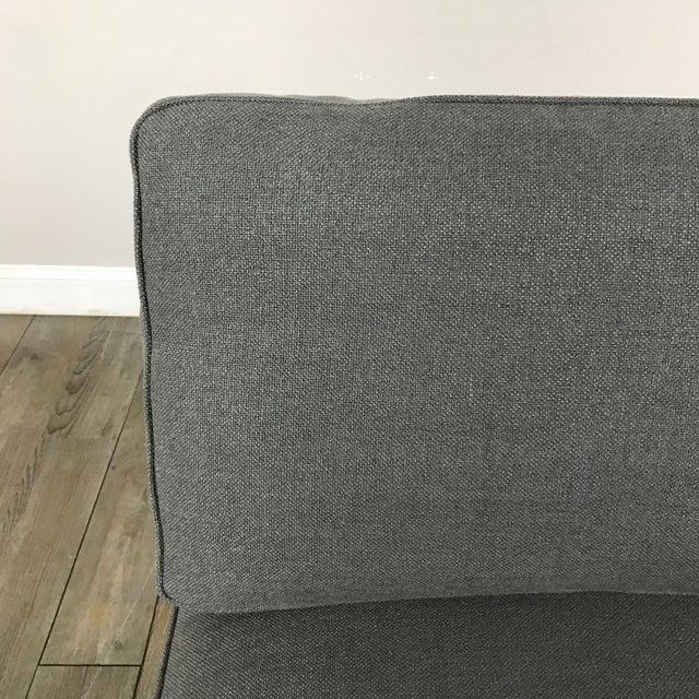 Gray Modern Armless Club Chair - Image 5 of 11