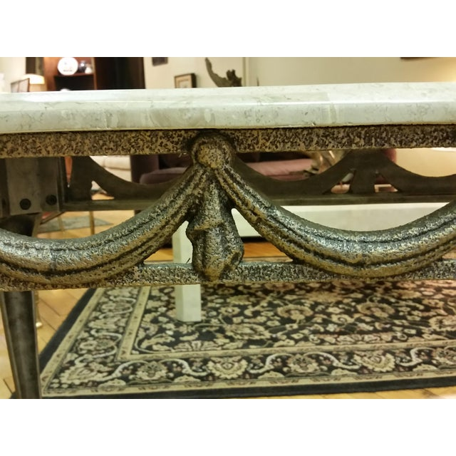 Tesselated Stone & Cast Iron Console Table - Image 4 of 6
