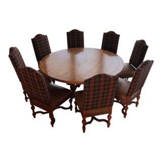 Fremarc Plaid Chair Dining Set