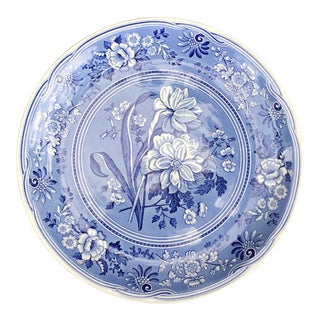 Large Spode Blue Room Collection Botanical Plate/Platter For Sale