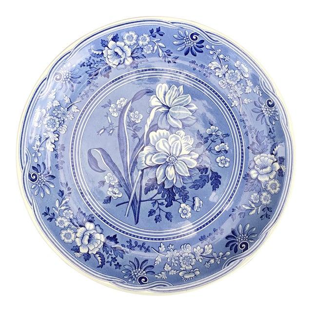 Large Spode Blue Room Collection Botanical Plate/Platter For Sale