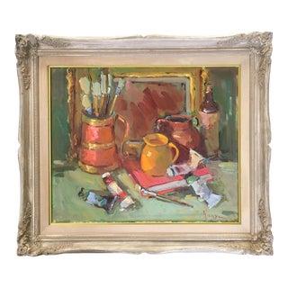 1990s Artist's Palette Still Life by Listed Artist, Kanya Bugreyev For Sale