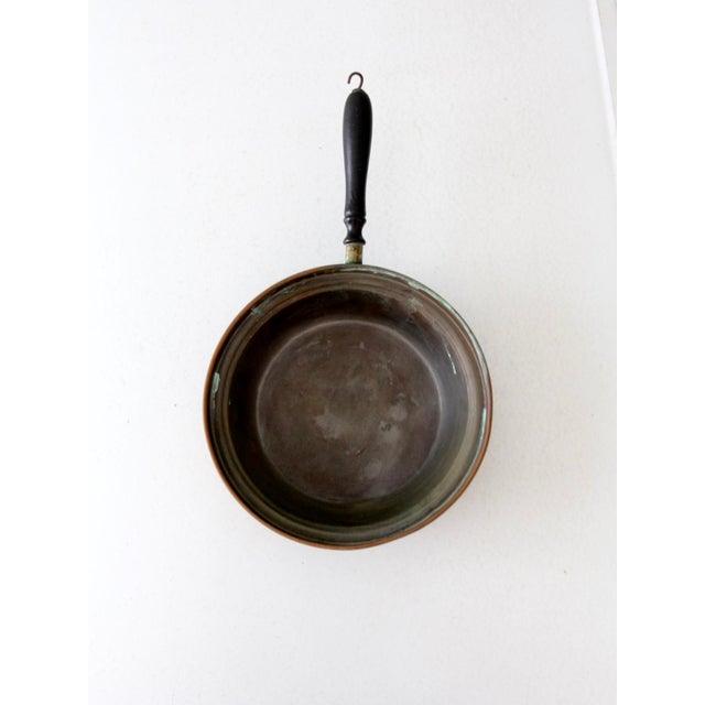 Cottage Antique Copper Pan For Sale - Image 3 of 8