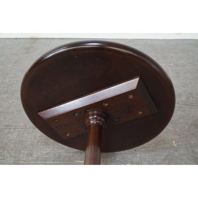 Stickley Queen Anne Solid Mahogany Pedestal Stand - Image 8 of 10