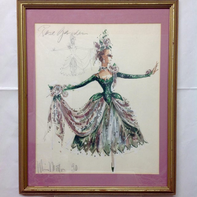 """Original Winn Morton Gown Design """"Rose Garden"""". Signed and dated 1990. We ALWAYS accept reasonable offers. Before it's..."""